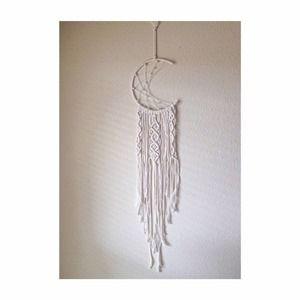 Moon Macrame Wall Hanging Crochet Woven